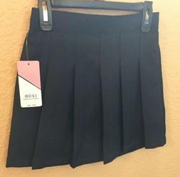 Girls Izod Skirt Skort Uniform 3037 Pleated Navy 7 Regular S