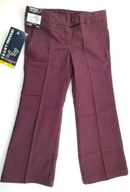 Girls French Toast Uniform/Casual Burgundy Bootcut Pants Cho