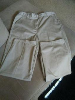 French Toast Girls Uniform Pants Size 20 Beige Cotton Polyes