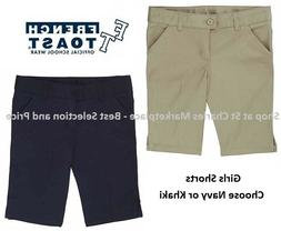 French Toast Girls Uniform Shorts, Choose Khaki or Navy, Pic