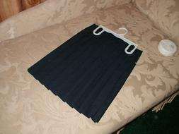 girls uniform skirts navy blue cotton blend
