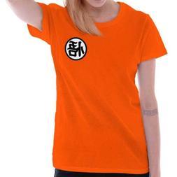 Goku Uniform Symbol Nerdy Geeky Anime Kanji Tee Shirts Tshir