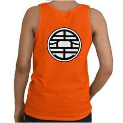 Goku Uniform Symbol Nerdy Geeky Anime Kanji Adult Tank Top T