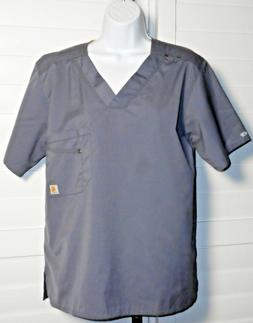 Carhartt Gray Nurses Uniform Scrub Top Sz XS NWOT