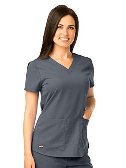 Grey's Anatomy 71166 V-Neck Top Granite L