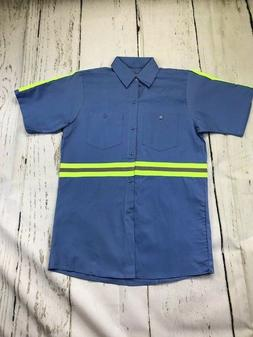 Hi Vis Reflective Shirts Safety Towing  Work Uniform 100% Co