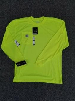 Carhartt High Visibility Pocket Long Sleeve T-shirt Large