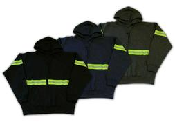 Hoodie Reflective High Visibility Hi Vis Safety Zip Front Wo