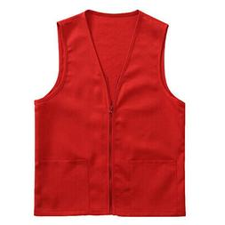 TopTie Zipper Activity Vest with 2 Pocket Employee Volunteer