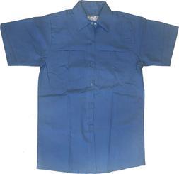 NEW! Industrial Work Uniform Shirt 100% Cotton - Light Blue