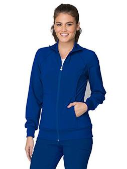 Cherokee Infinity 2391A Zip Front Warm-Up Jacket Galaxy Blue