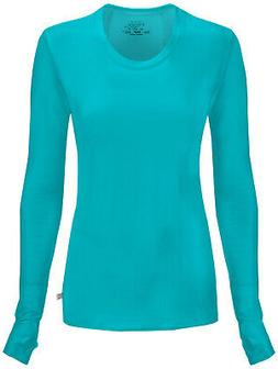 Infinity by Cherokee 2626A Women's Long Sleeve Knit Tee Medi