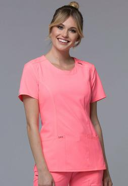 Cherokee Infinity Round Neck Top 2624A COCR Coral Craze Free
