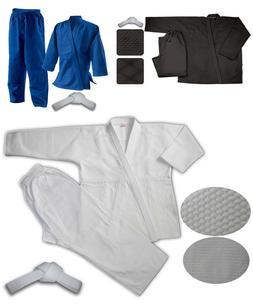 JUDO Blue Martial Arts Uniform, Jiu Jitsu, Aikido. 100% Cott