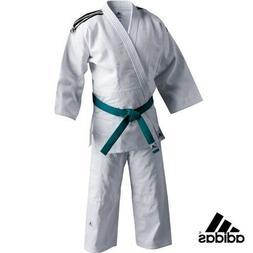 adidas Judo Student White Gi Uniform Single Weave 100% Cotto