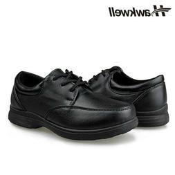 Hawkwell Kids Boys Girls Lace up School Uniform Shoes Oxford