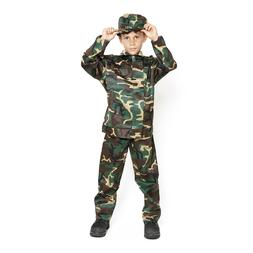 Child Kids US Army Camo Camouflage Soldier Military Marine B