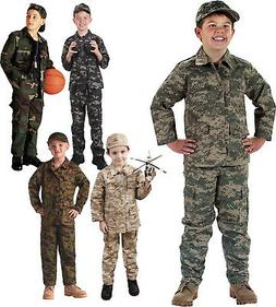 Kids Military Camouflage BDU Shirt Childrens Army Fatigues C