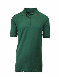 Kids Authentic Galaxy School Uniforms Green Polo Shirt Size