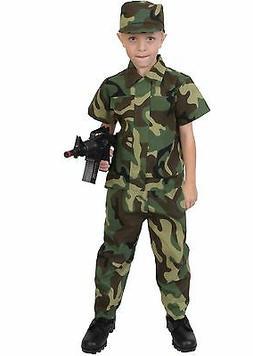 Kids Soldier Costume - Child Camouflage Uniform - Halloween