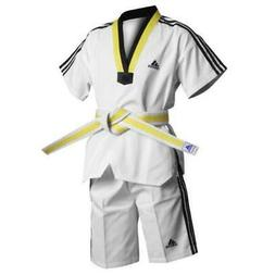 Adidas Kids Summer Taekwondo Dobok Uniform Gi Multi Coloured
