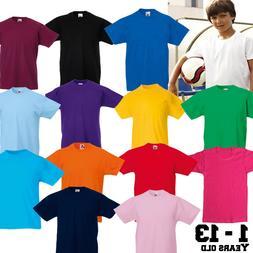 KidsT-Shirt Blank Plain School PE Uniform Top Boys,Girls,Bab