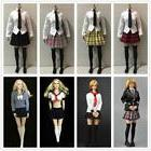 1/6 School Girl Uniform Clothing Set for 12'' Hot Toys Phice