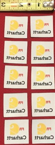 10 Carhartt FR Iron-on Replica Tags Patches