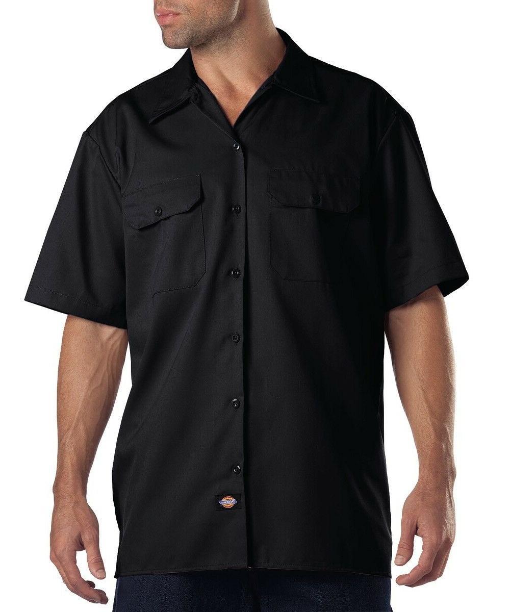 1574 mens short sleeve button up work