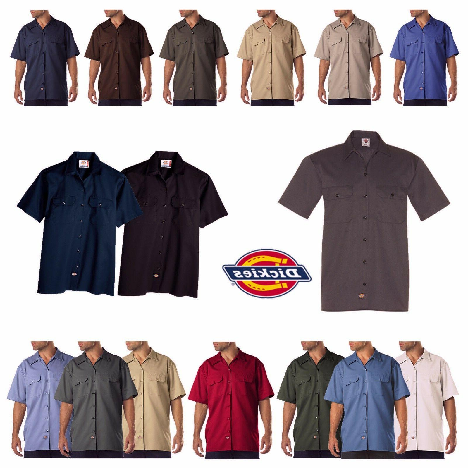 Dickies 1574 Short Sleeve Work Uniform Casual Button Up Shir