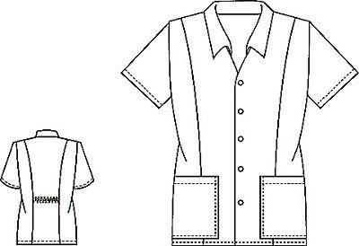 Cherokee 2879 Women's Button Front Top Uniforms Scrubs