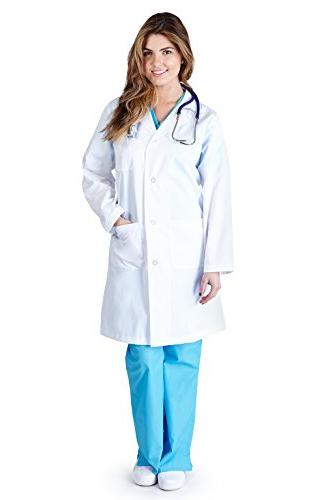 Natural Uniforms - Womens 41 Inch Lab Coat, White 37151-X-La