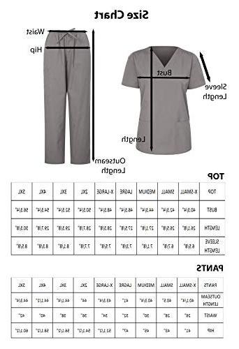 7047 Scrub Uniform Top and Pants White