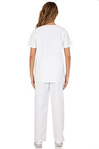 7047 Scrub Uniform Medical Scrubs Top and White S