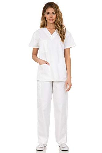 7047 Womens Uniform and Pants White
