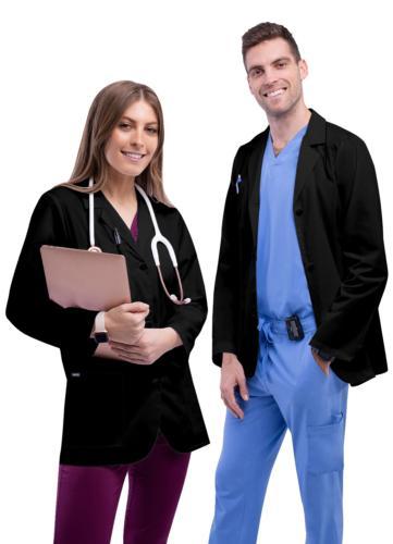 Adar Men Doctor Workwear Uniform Multiple Pockets Classic Co