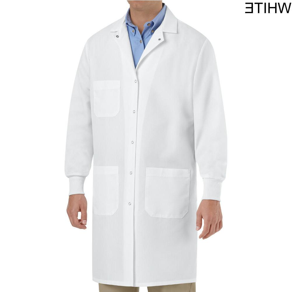 Brand New Unisex White Lab Coat with Cuffs size XS-2XL