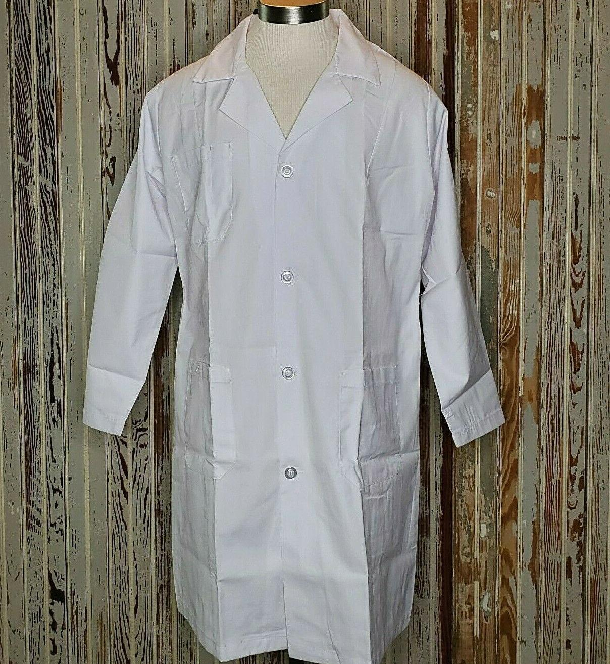 Natural Uniforms Unisex 40 Inch Lab Coat, White Large
