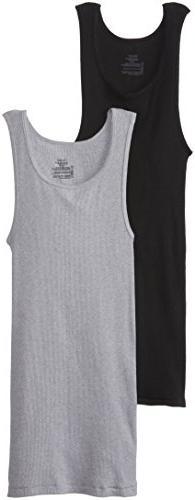 Hanes Men's 2-Pack A-Shirt, Dyed, Medium