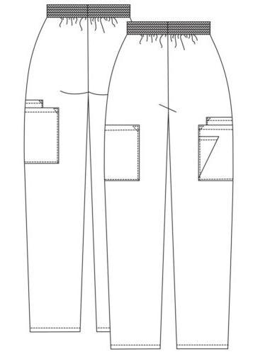 Adar Petite Doctor Pockets Workwear Pants