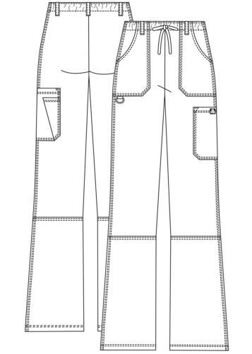 Adar Petite Medical Nursing Uniform Multi Pocket