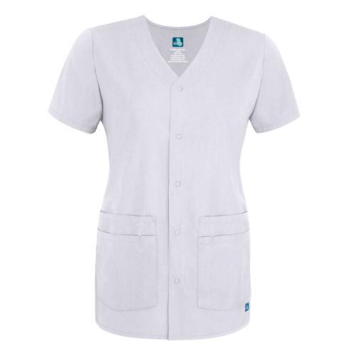 Adar Women Doctor Nurse Short V Neck Double Scrub