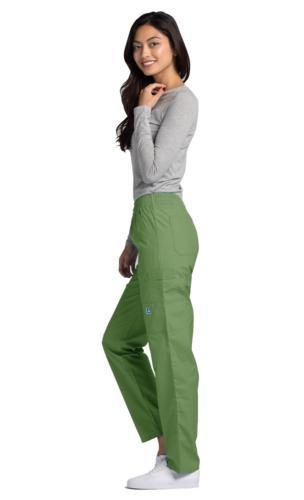 Adar Women Doctor Uniform Natural-Rise Multi Pocket Cargo