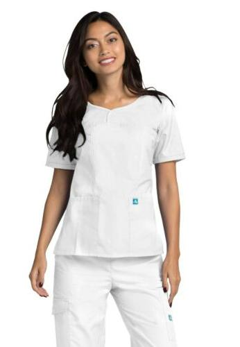 Adar Women Nurse Uniform Pockets Top