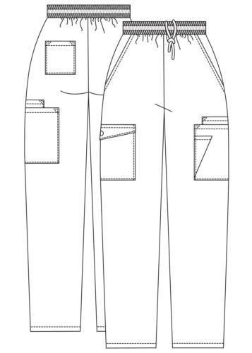 Adar Women Uniform Multi Cargo Tapered Leg