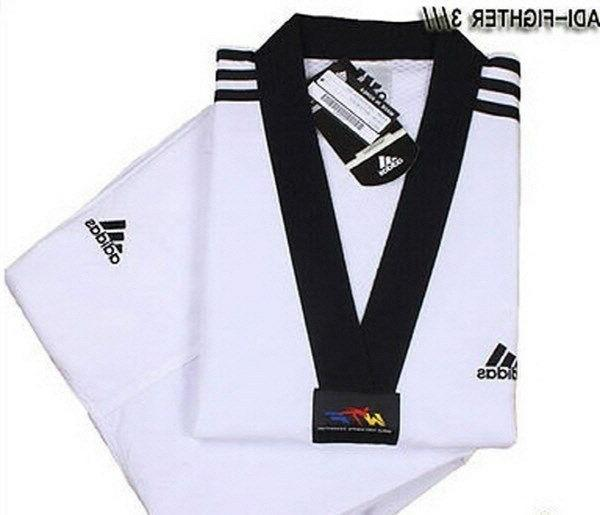 adi fighter new 3 stripe taekwondo uniform