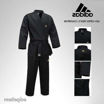Adidas ADI-OPEN Dobok Men's Champion Uniform Black Taekwondo