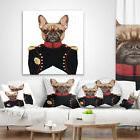 East Urban Home Animal French Bulldog in Military Uniform Lu