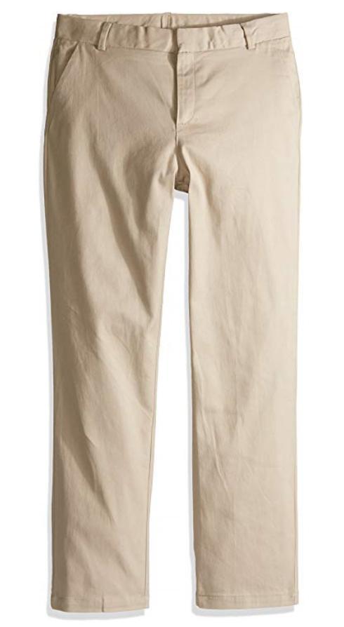 apparel big girls uniform stretch twill skinny
