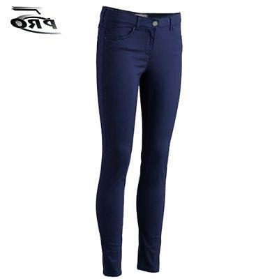 Pro 5 Apparel Stretched Girls Skinny Pants Navy School Unifo